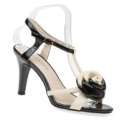 BEL15078 Leather Upper Sandals in Black-White