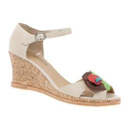 BEL15084 Leather Upper Sandals in Cream