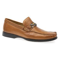 TUR1601 Leather Upper Textile Lining Slip On in Tan