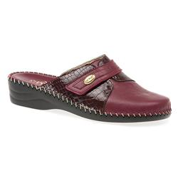 FLYIT1601 Leather Clogs in Burgundy