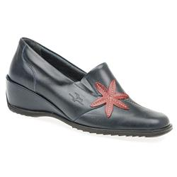 CALFLY1005 Leather in Black-Black Patent, Cream-Gold, Navy, Red Multi, White-Blue