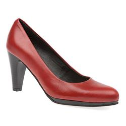 HSANCH1609 Leather Day Shoes in Red, Tan