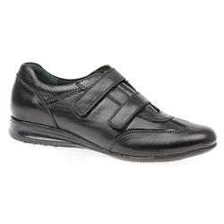 SNI1401 Leather Upper Textile Lining Flats in Black, Grey