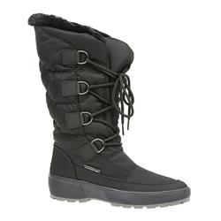 HSEF1604 Textile Boots in Black, Off White