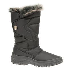 HSEF1606 Textile Boots in Black, Bronze