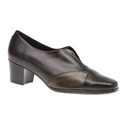 HSANC1603 Leather Day Shoes in Black, Brown-Bronze