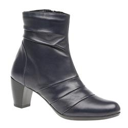 JES1603 Leather Boots in Navy