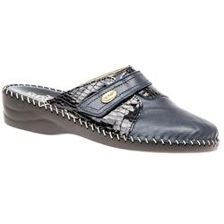 FLYIT1601 Leather Clogs in Navy