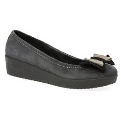 HSJES1604 Leather in Black, Grey Suede