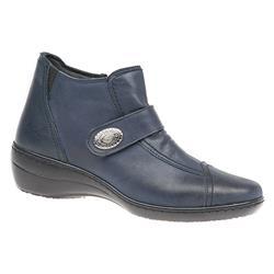 HAK1611 Leather Boots in Dark Brown, Dark Navy