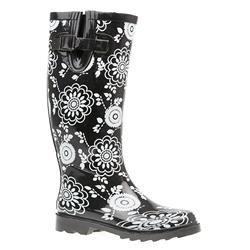 HSJD1601 Boots in Black Flower