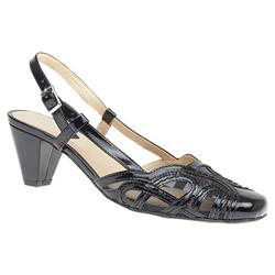 ALA1609 Sandals in Black Patent, Pewter