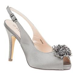 EW1605 Textile Upper Sandals in Silver Satin
