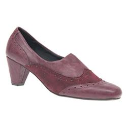 ALA1203 Textile/Other Lining Day Shoes in Black Wrinkle Patent, Burgundy
