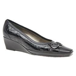 VAN1613 Leather Upper Low to Mid Heels in Black Patent Croc, Navy Patent Croc