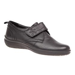 ESFLY1601 Leather Casual Shoes in Black