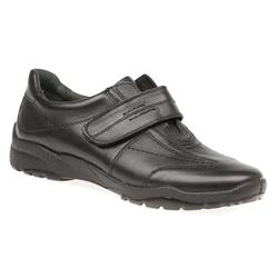 VITAL1601 Leather Casual Shoes in Black