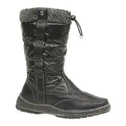 JANA1614 Textile/Other Upper Textile Lining Boots in Black