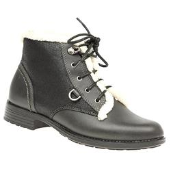 ES1603 Leather/Textile Boots in Black, Brown