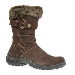 ES1605 Leather Upper Textile Lining Boots in Brown