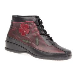IWCALF1600 Leather Boots in Burgundy Multi
