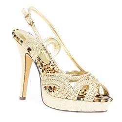 STEW1608 Sandals in Black, Gold