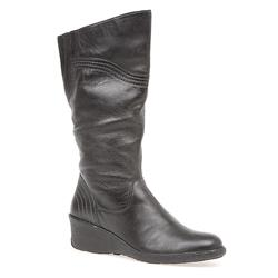 HSKEMP1405 Leather Upper Textile Lining Boots in Black