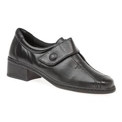 KEMP1603 Leather Casual Shoes in Black