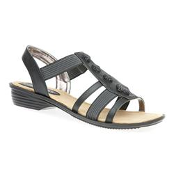 CT1701 Textile Lining Sandals in Black, White