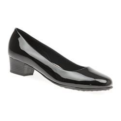 HSMAI1701 Low to Mid Heels in Black, Black-Black Patent