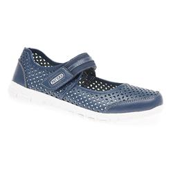 HSLD1701 Leather Casual Shoes in Navy, White