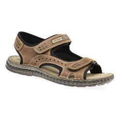 HSMA1701 Leather Sandals in Black, Brown