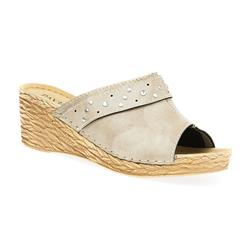 IN1701 Leather Lining Sandals in Beige, Blue, White