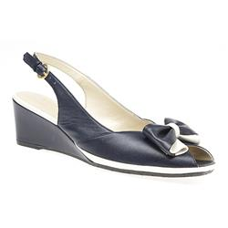 VD1707 Leather Upper Sandals in Navy-White, Red-White