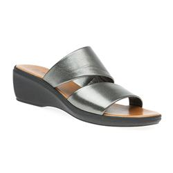 B1701 Leather Upper Sandals in Black, Pewter, White