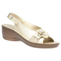 IN1704 Sandals in Light Gold, Pewter, White