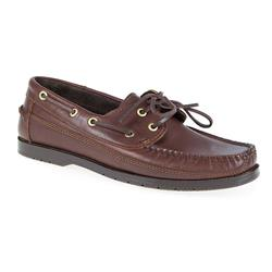 TUR1700 Leather Upper Leather/Textile Lining Lace Up in Navy, Tan