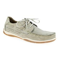 TUR1701 Nubuck Upper Textile Lining Lace Up in Beige Nubuck, Navy Nubuck