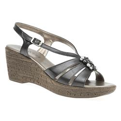 B1703 Leather Upper Sandals in Black, White