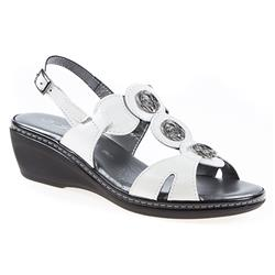 JES1701 Leather Sandals in Black, Silver, White