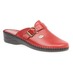 FLYIT1606 Leather Clogs in Black, Red