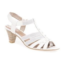 JANA28364-30 Sandals in Black, White