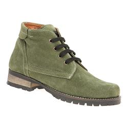 WORLD1607 Leather Boots in Olive, Red