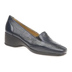 NAP1702 Leather Heels in Navy-Pewter
