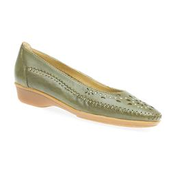 HSNAP1304FP Leather Flats in Black, Denim, Olive