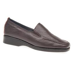 CINFLY1600 Leather Casual Shoes in Brown, Burgundy