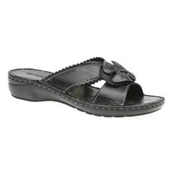 JEAN1704 Leather Sandals in Black