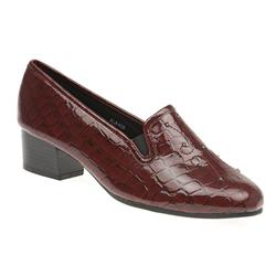 ALA409 Textile/Other Lining Low to Mid Heels in Black Patent, Black Patent Croc, Burgundy