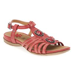HSCP1700 Leather Lining Sandals in Red, Taupe, White