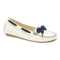 STET1704 Leather in Cream-Navy